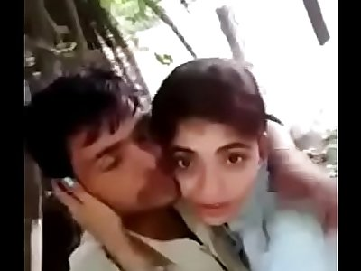 Desi Hindi speaking Indian couple kissing
