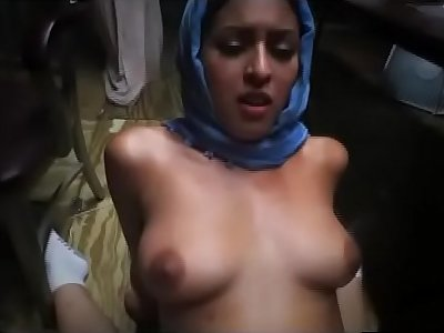 Arab Teen Street Whore Riding On Soldiers Dick Outdoors For Cash